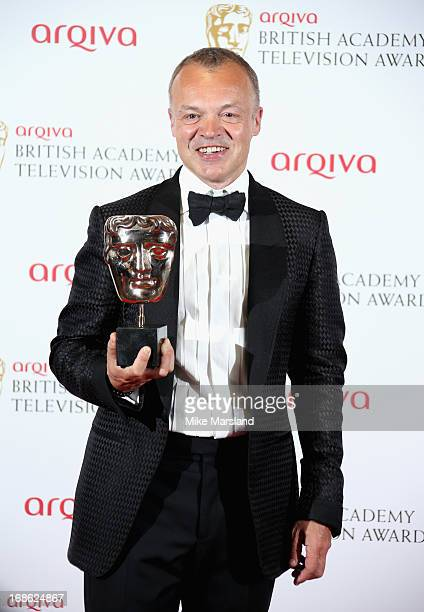 Graham Norton with his Best Entertainment Programme award during the Arqiva British Academy Television Awards 2013 at the Royal Festival Hall on May...