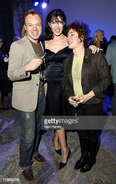 Graham NortonRonnie Ancona and Ruby Wax during The Hypochondriac Christmas Gala Performance at Almeida Theatre in London Great Britain