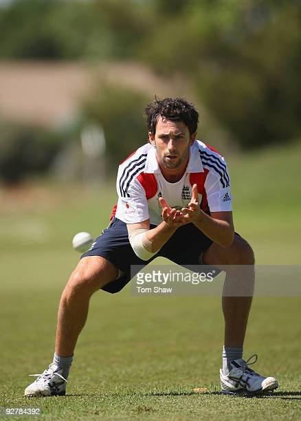 Graham Onions of England practices his catching during the England nets session at The University of Free State on November 5 2009 in Bloemfontein...