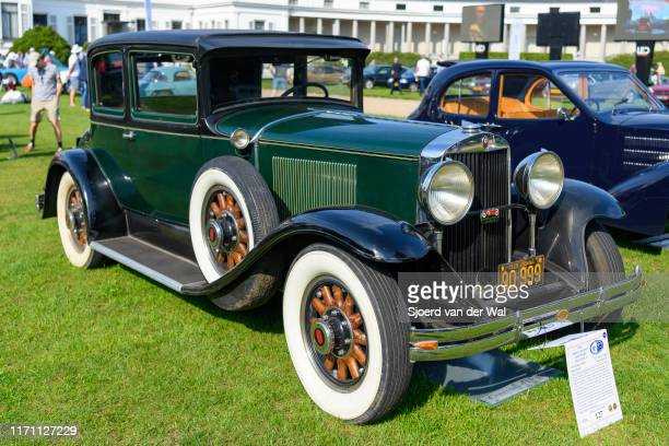Graham Paige 827 Opera Coupe vintage classic car on display at the 2019 Concours d'Elegance at palace Soestdijk on August 25 2019 in Baarn...