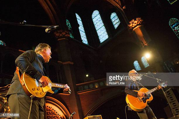 Graham Parker and Brinsley Schwarz perform at the Union Chapel on May 5, 2015 in London, United Kingdom