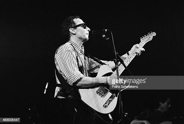 Graham Parker, vocal, performs at the Paradiso in Amsterdam, the Netherlands on 1st March 1990.