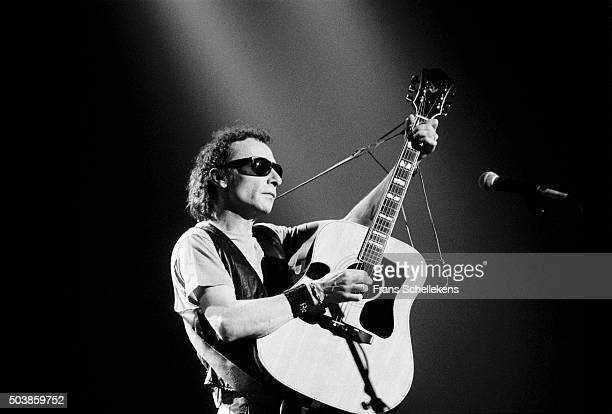 Graham Parker, vocals and guitar, performs at the Paradiso on March 15th 1991 in Amsterdam, the Netherlands.