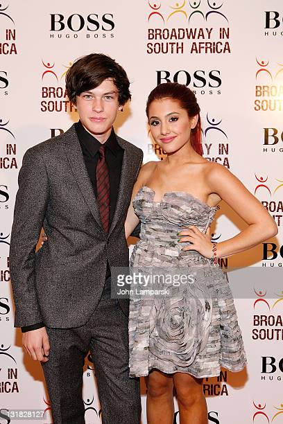 Graham Phillips and Ariana Grande attend the 3rd Annual Broadway in South Africa Concert at The Manhattan Center on October 4 2010 in New York City