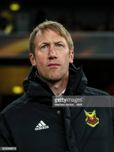 Graham Potter head coach / manager of Ostersunds FK during UEFA Europa League Round of 32 match between Arsenal and Ostersunds FK at the Emirates...