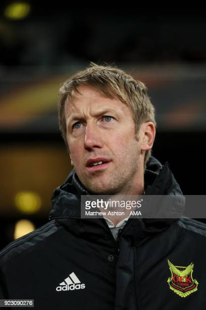 Graham Potter head coach / manager of Ostersunds FK Graham Potterduring UEFA Europa League Round of 32 match between Arsenal and Ostersunds FK at the...
