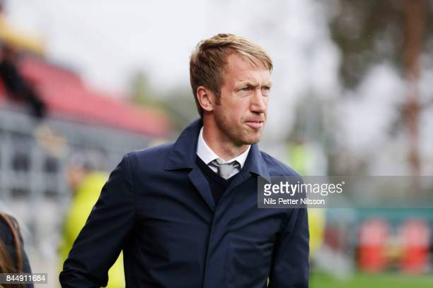 Graham Potter head coach of Oestersunds FK during the Allsvenskan match between Ostersunds FK and Athletic FC Eskilstuna at Jamtkraft Arena on...