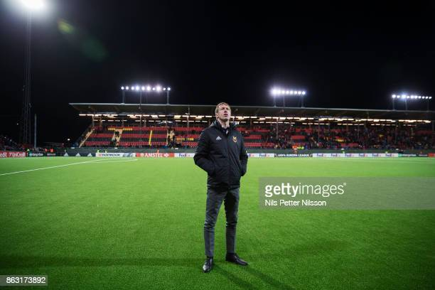 Graham Potter head coach of Ostersunds FK after the UEFA Europa League group J match between Ostersunds FK and Athletic Bilbao at Jamtkraft Arena on...