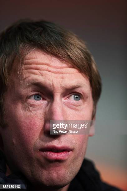 Graham Potter head coach of Ostersunds FK during a press conference ahead of the UEFA Europa League group J match between Hertha BSC and Ostersunds...