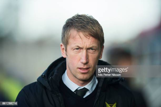 Graham Potter head coach of Ostersunds FK during the Allsvenskan match between Ostersunds FK and Orebro SK at Jamtkraft Arena on October 14 2017 in...