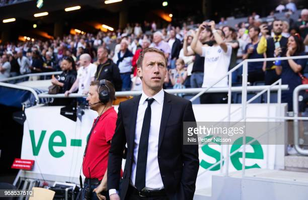 Graham Potter head coach of Ostersunds FK during the Allsvenskan match between AIK and Ostersunds FK at Friends Arena on May 14 2018 in Stockholm...