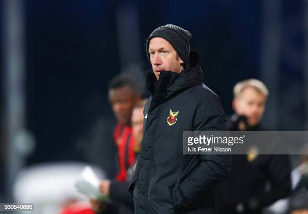 Graham Potter head coach of Ostersunds FK during the Swedish Cup Quarterfinal between Ostersunds FK and GAIS at Jamtkraft Arena on March 11 2018 in...