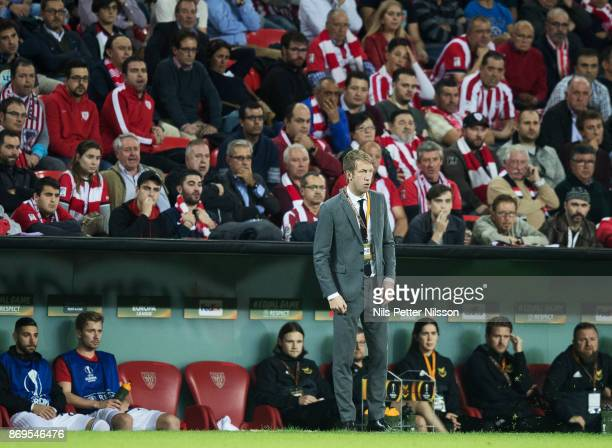 Graham Potter head coach of Ostersunds FK during the UEFA Europa League group J match between Athletic Bilbao and Ostersunds FK at Estadio San Mames...