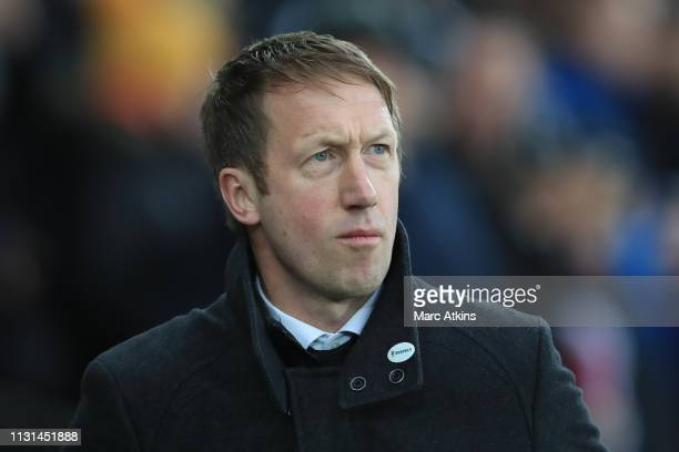 Graham Potter manager of Swansea City during the FA Cup Quarter Final match between Swansea City and Manchester City at Liberty Stadium on March 16...