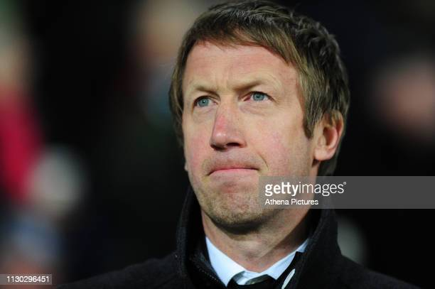 Graham Potter Manager of Swansea City during the Sky Bet Championship match between West Bromwich Albion and Swansea City at The Hawthorns on March...