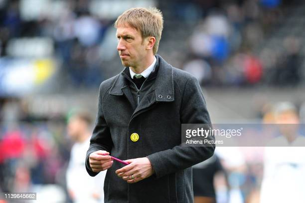 Graham Potter Manager of Swansea City during the Sky Bet Championship match between Swansea City and Hull City at the Liberty Stadium on April 27...