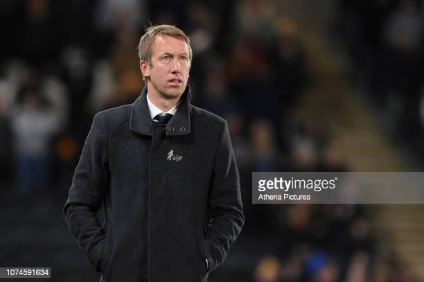 Graham Potter Manager of Swansea City in action during the Sky Bet Championship match between Hull City and Swansea City at The KCOM Stadium on...