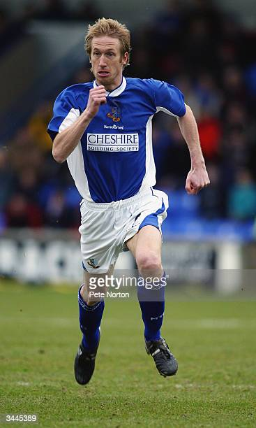 Graham Potter of Macclesfield Town in action during the Nationwide League Division Three match between Macclesfield Town and Northampton Town held on...