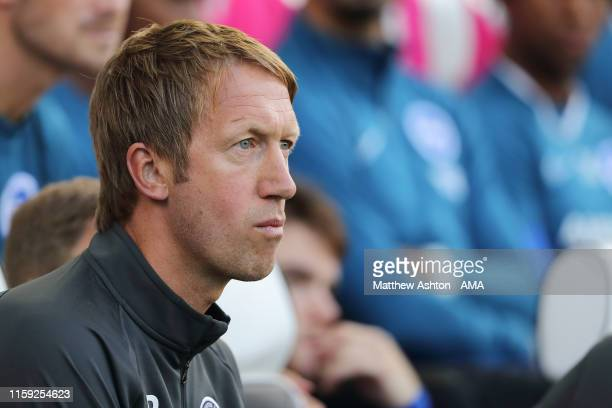 Graham Potter the head coach / manager of Brighton and Hove Albion during the PreSeason Friendly match between Brighton Hove Albion and Valencia at...