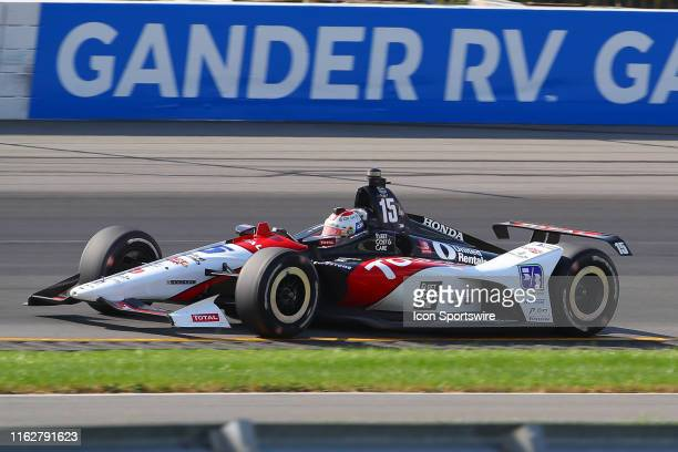 Graham Rahal driver of the TOTAL Honda during the IndyCar Series ABC Supply 500 on August 18 2019 at Pocono Raceway in Long Pond Pa