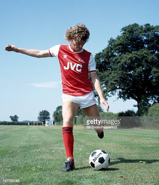 Graham Rix of Arsenal and England in action at the Arsenal training facility in Colney Heath near London August 1984