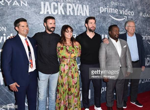 Graham Roland Ali Suliman Dina Shihabi John Krasinski Wendell Pierce and Carlton Cuse attend the premiere of Amazon Prime's of 'Tom Clancy's Jack...