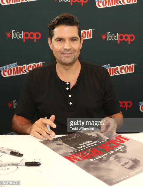 Graham Roland attends Amazon Prime Video's Tom Clancy's Jack Ryan Comic Con 2017 Autograph Signing at The Jacob K Javits Convention Center on October...