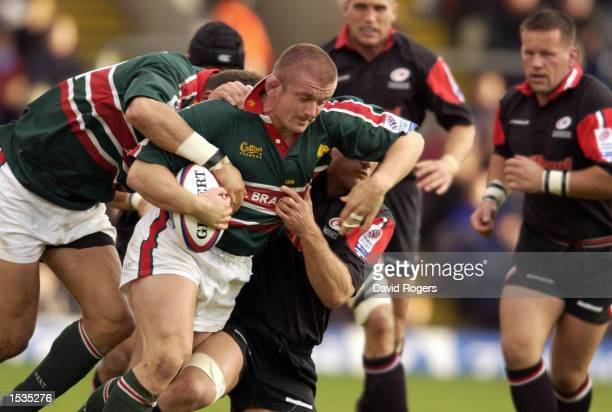 Graham Rowntree of Leicester powers forward during the Zurich Premiership match between Saracens and Leicester Tigers at Vicarage Road Watford...