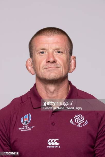 Graham Rowntree of the Georgia backroom staff during the Georgia Rugby World Cup 2019 squad photo call on September 16, 2019 in Nagoya, Aichi, Japan.