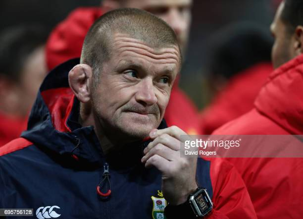 Graham Rowntree, the Lions scrum coach looks on during the 2017 British & Irish Lions tour match between the Highlanders and the British & Irish...