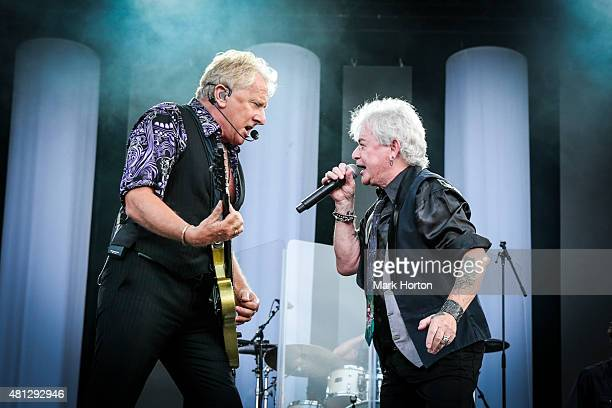 Graham Russell and Russell Hitchcock of Air Supply performs on Day 10 of the RBC Royal Bank Bluesfest on July 18 2015 in Ottawa Canada