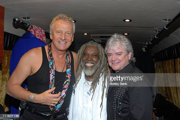 Graham Russell Billy Ocean and Russell Hitchcoock backstage at the Seaside Concert Series on July 19 2007 in New York