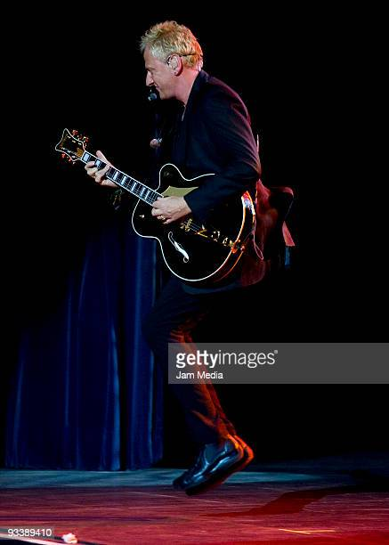 Graham Russell of Australian band Air Supply performs during their concert at Diana Theater on November 24 2009 in Guadalajara Mexico Photo by...