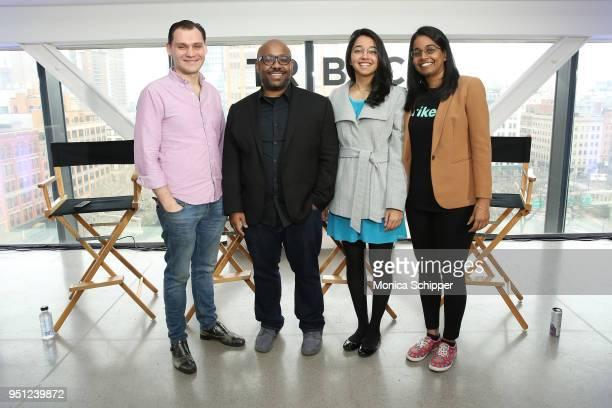 Graham Sack Loren Hammonds Ketaki Shriram and Jhanvi Shriram attend 'Future of Film AR We There Yet' during the 2018 Tribeca Film Festival at Spring...