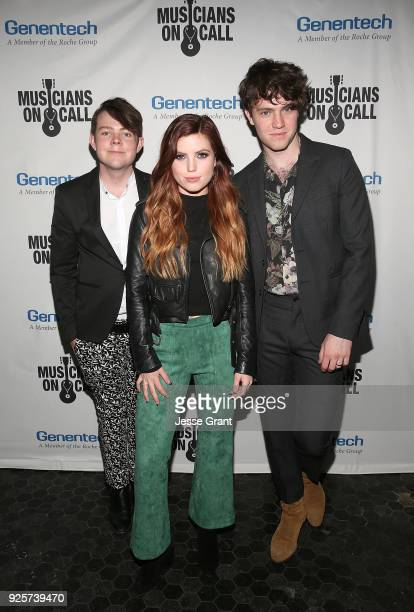Graham Sierota Sydney Sierota and Noah Sierota of Echosmith attend the Musicians On Call 5th Anniversary Celebration in Los Angeles Delivering The...