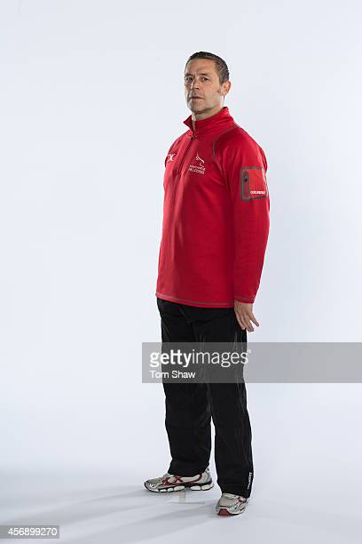 Graham Steadman of Newcastle Falcons poses for a picture during the BT photo shoot at Kingston Park on August 20 2014 in Newcastle upon Tyne England