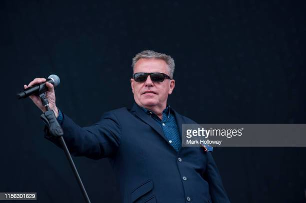 Graham Suggs McPherson of Madness performs on stage during Isle of Wight Festival 2019 at Seaclose Park on June 16 2019 in Newport Isle of Wight