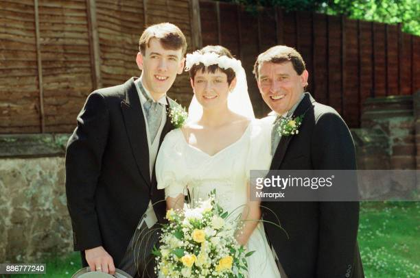 Graham Taylor new England manager is pictured at the wedding of his daughter Karen Taylor aged 21 St Peters Church Little Aston Birmingham Saturday...