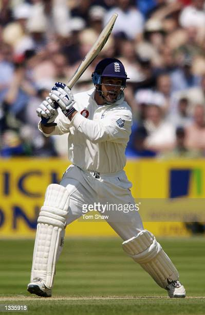Graham Thorpe of England in action during the 2nd Npower Test Match between England and Sri Lanka at Edgbaston in Birmingham on June 01 2002