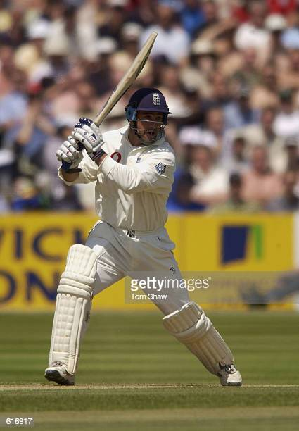 Graham Thorpe of England in action during the 2nd Npower Test Match between England and Sri Lanka at Edgbaston Birmingham on June 1 2002