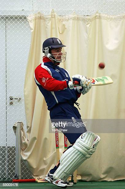 Graham Thorpe of England in action during the England nets session prior to the 2nd Npower Test match between England and Bangladesh at the Riverside...