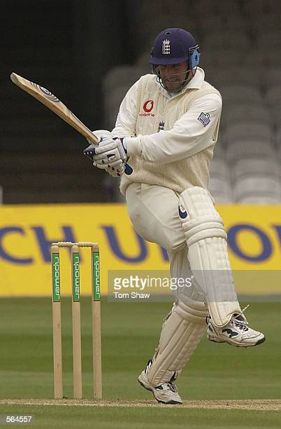 Graham Thorpe of England on his way to fifty during the fifth day of the first Test Match between England and Sri Lanka at Lord's in London on May 20...