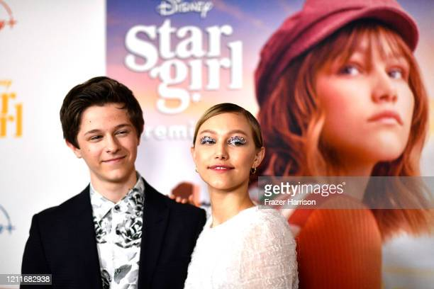 "Graham Verchere, Grace VanderWaal attend the Premiere Of Disney+'s ""Stargirl"" on March 10, 2020 in Hollywood, California."