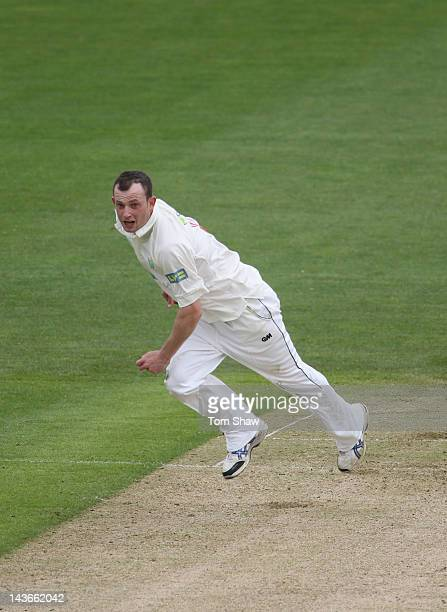 Graham Wagg of Glamorgan in action during day one of the LV County Championship division one match between Glamorgan and Essex at SWALEC Stadium on...