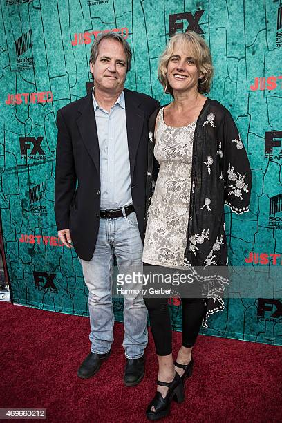 Graham Yost attends the Premiere Of FX's Justified Series Finale at ArcLight Cinemas Cinerama Dome on April 13 2015 in Hollywood California