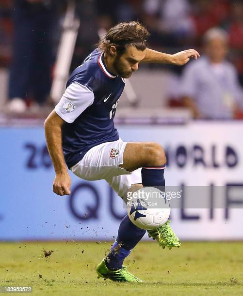 Graham Zusi of the United States against Costa Rica during the FIFA 2014 World Cup Qualifier at Estadio Nacional on September 6 2013 in San Jose...