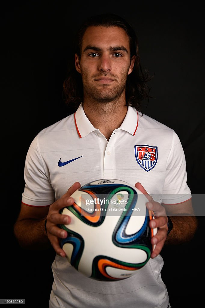 Graham Zusi of the United States poses during the Official FIFA World Cup 2014 portrait session on June 9, 2014 in Sao Paulo, Brazil.