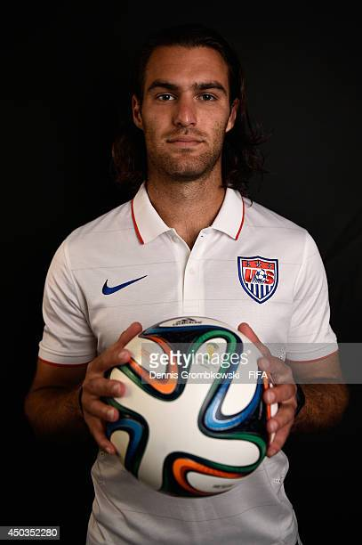 Graham Zusi of the United States poses during the Official FIFA World Cup 2014 portrait session on June 9 2014 in Sao Paulo Brazil