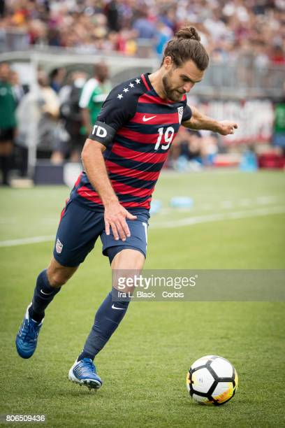 Graham Zusi of US Mens National Team goes toward the goal during the International Friendly Match between US Mens National Team and Ghana at the...