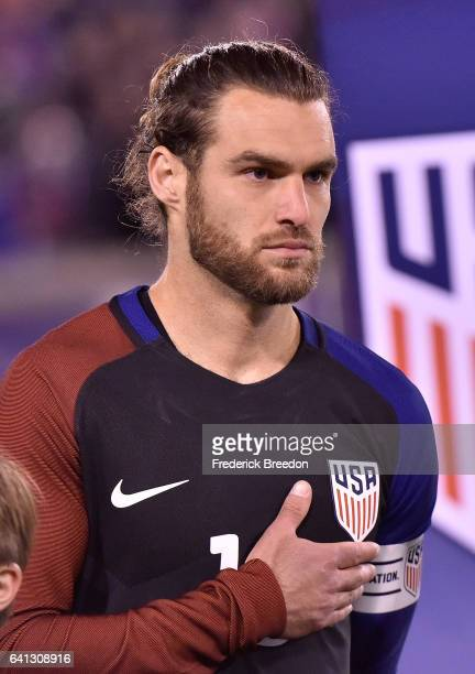 Graham Zusi of USA prepares for a friendly international match against Jamaica at Finley Stadium on February 3 2017 in Chattanooga Tennessee